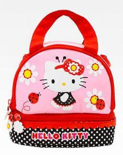 Hello Kitty Lunch Bag Box Ladybug PVC FREE New  SuPeR
