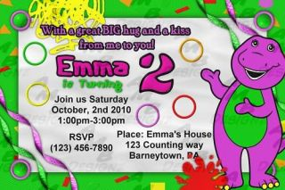 Barney & Friends Birthday invitations + Party Supplies