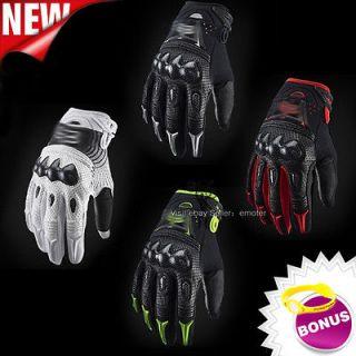 Carbon Fiber Dirt Bike Motorcycle Motocross Racing Bomber Gloves Size