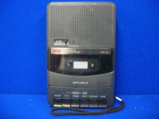 CTR 107 Portable Voice Activated Cassette Tape Player Recorder Deck