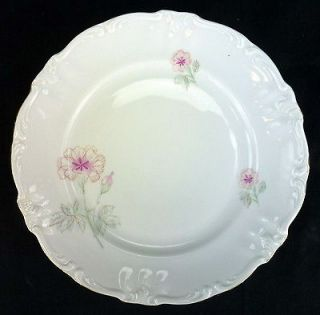 Bavaria Germany China Salad Plate Pink Carnations Gold Trim Multiple