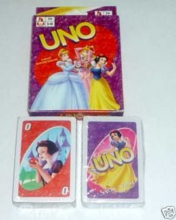 UNO Playing Cards Game DISNEY PRINCESS Sealed New Cinderella Snow