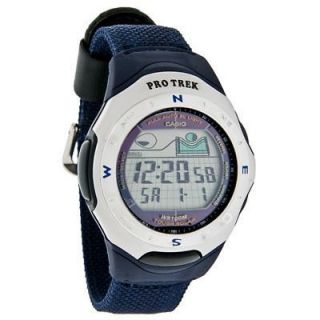 CASIO PROTREK PATHFINDER SOLAR 5 ALARM WATCH, MOON TIDES, DUAL TIME