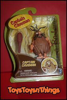 HANNA BARBERA 2012 CAPTAIN CAVEMAN with club figure NEW 3 3.5 inch