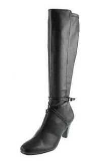 Karen Scott NEW Cassidy Black Wide Calf Mid Calf Boots Heels Shoes R9