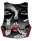 Too Fast Madison Vest Sugar Skull Live Fast Shirt top Punk Day the