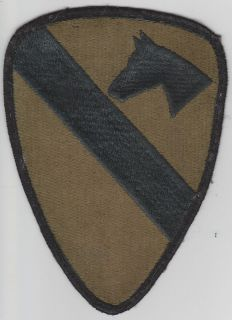 ARMY 1ST CAVALRY DIVISION PATCH SUBDUED VIETNAM AND LATER DESIGN
