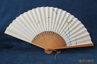 Pan American Airlines Folding Fan With Dragon Flies   Made in Japan