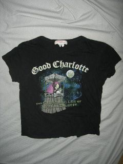 GOOD CHARLOTTE BAND Black Graphic T Shirt Jrs XL Chronicles of Life