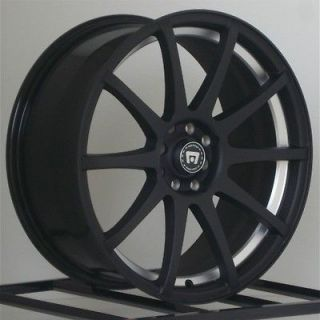 Rims Black Honda Civic Fit Scion xB xA Chevy Cobalt 4x100 Lug NEW