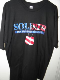 Mens MMA t shirt (Soldier Fight Gear supporting the Wounded Warrior
