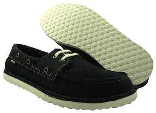 New Vans Sea Captain Black Boat Shoes US Mens 6 ,Women 7.5