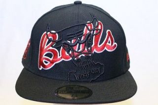 CHICAGO BULLS NBA NEW ERA HAT CAP FITTED BIG SEE THROUGH BLACK