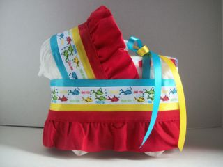 FISH 2 FISH BOY GIRL NEUTRAL DIAPER BASSINET BABY SHOWER CENTERPIECE