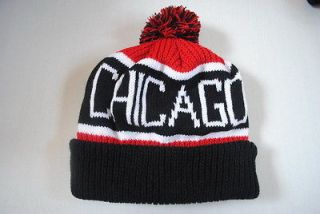 NEW NBA CHICAGO BULLS KNIT BEANIE WINTER hat CAP OSFA B593