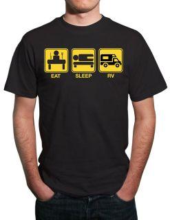 Eat, Sleep, RV Funny Motorhome T Shirt All Sizes