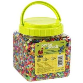 NEW 11,000 Perler Beads Bead Activity beads Jar Multi Mix Colors