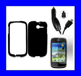 Huawei Ascend Y H866C SCREEN PROTECTOR + CAR CHARGER + BLACK Snap On
