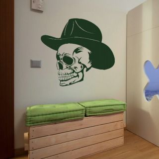 SKULL WEARING HAT COWBOY SKELETON GRAPHIC STICKER giant tattoo picture