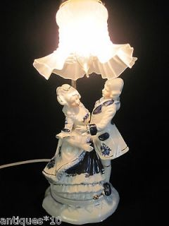 Vintage Porcelain Victorian Style Table Lamp / REDUCED