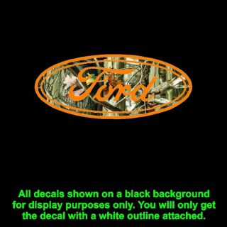 Camo Ford oval Window Decal Ford Truck F 150 F 250 F 350