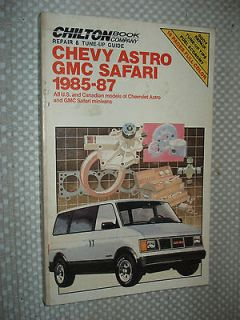 1985 1987 CHEVY GMC MINI VAN SHOP MANUAL SERVICE BOOK SAFARI ASTRO