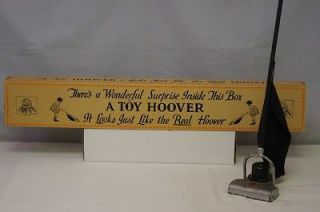 1920s DENT HARDWARE HOOVER VACUUM CLEANER TOY SWEEPER ULTRA RARE BOX