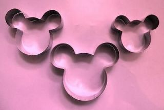 mickey mouse biscuit cookie cutter 3pcs/set 125A1112