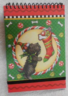 Scotty Scottie Dog and Christmas Stocking Mary Engelbreit Spiral