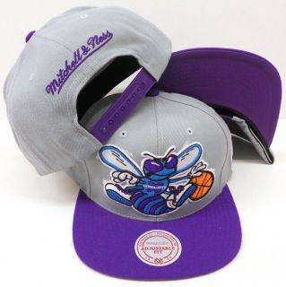 Mitchell & Ness NBA Charlotte HORNETS Vintage Snapback Gray & Purple