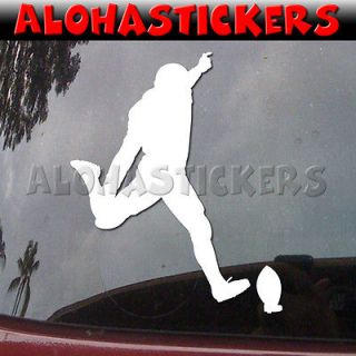 FOOTBALL KICKER Field Goal Punter Car Truck Moped Vinyl Decal Window
