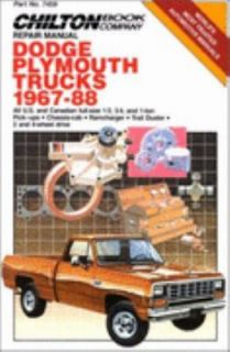 Chiltons Dodge Plymouth Trucks 1967 1988 by Chilton Automotive
