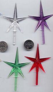 Star 4 Plastic Christmas Tree Ceramic NIP Replacement Choice of