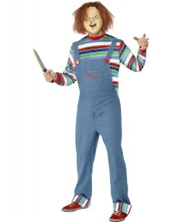 Mens Chucky Doll Childs Play Horror Film Character Fancy Dress