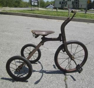 COMPLETE 1920S STEEL TRICYCLE CHILDRENS BIKE PRIMITIVE ORIGINAL