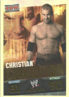TOPPS WWE Slam Attax EVOLUTION   CHRISTIAN   Foil Champion Card
