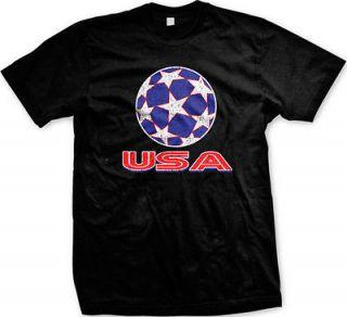 USA Soccer Patriotic Stars Red White Blue American Pride Sport Fun Men