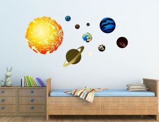 Full Colour Solar System Wall Sticker Art Vinyl, Decal, Graphic kr53