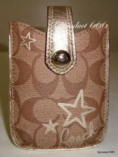 Coach Cell Phone Universal Case Bag Wallet Small Electronic ipod