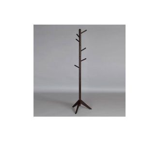 Solid Wood Swival Hall Tree Coat Rack Hooks in Every Direction
