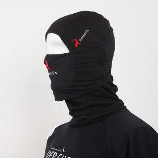 Balaclava FACE BLACK FULL MASK by WINDMASK under helmet Motorcycle Ski