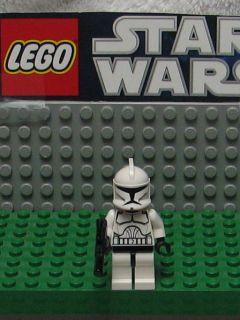 STAR WARS LEGO MINI FIGURE  MINI FIG   CLONE TROOPER    USED  WITH