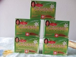 BARS NEW PLACENTA HERBAL BEAUTY SOAP SKIN WHITENING AND ANTI AGING