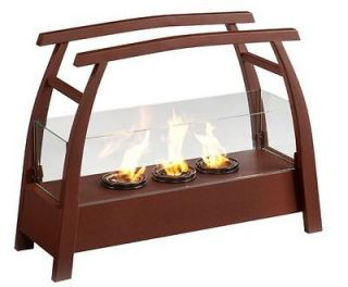 Wildon Home Free Stand Gel Fuel Fireplace Heat Portable Stove Outdoor