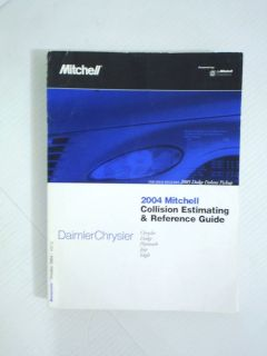 2004 Mitchell Collision Guide Manual Chrysler Dodge Jeep Plymouth