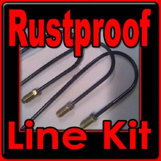 Rustproof Complete Metal brake line kit Chevrolet cars 1940   1976