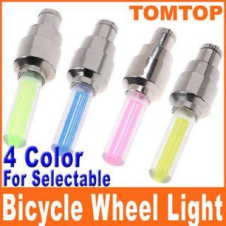 Colors Bicycle Bike Car Light Tire Wheel Light Valve Caps Neon LED