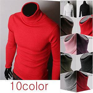 MENS neck turtleneck sweater 10color(sz us M,L)