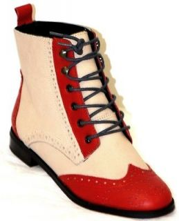 260.00 Steve Madden 4 The Cool People Collette Red Multi Boots 8