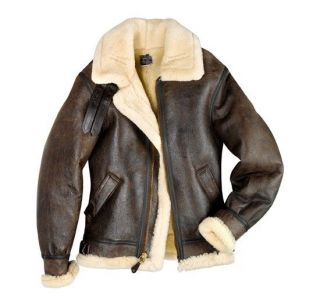 The Original Cockpit Bomber B 3 Jacket Brown Super Warm USA Made